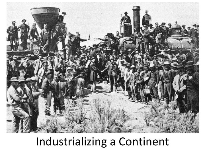 industrializing a continent n.
