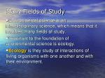 many fields of study