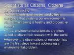 scientists as citizens citizens as scientists
