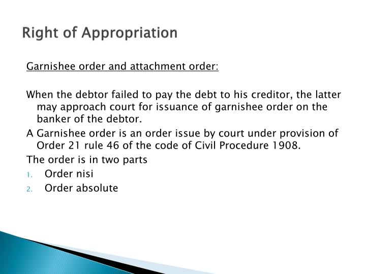 right of appropriation