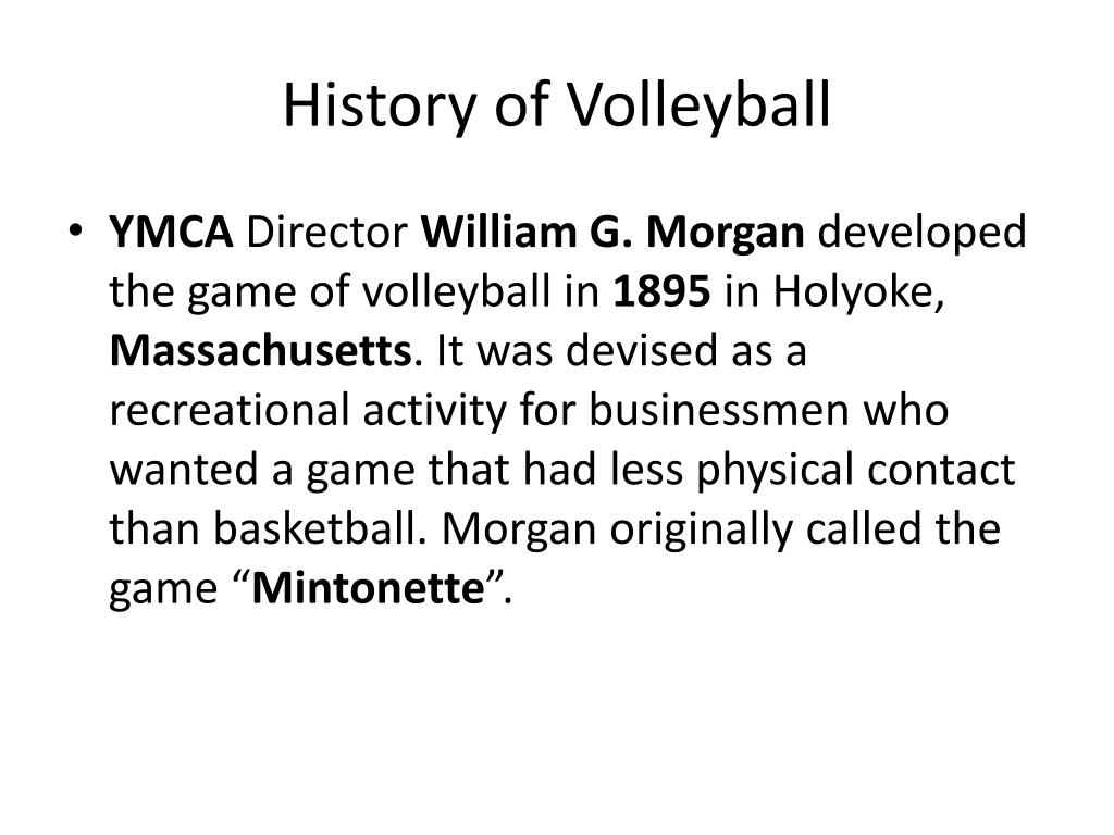 Ppt History Of Volleyball Powerpoint Presentation Free Download Id 1957173