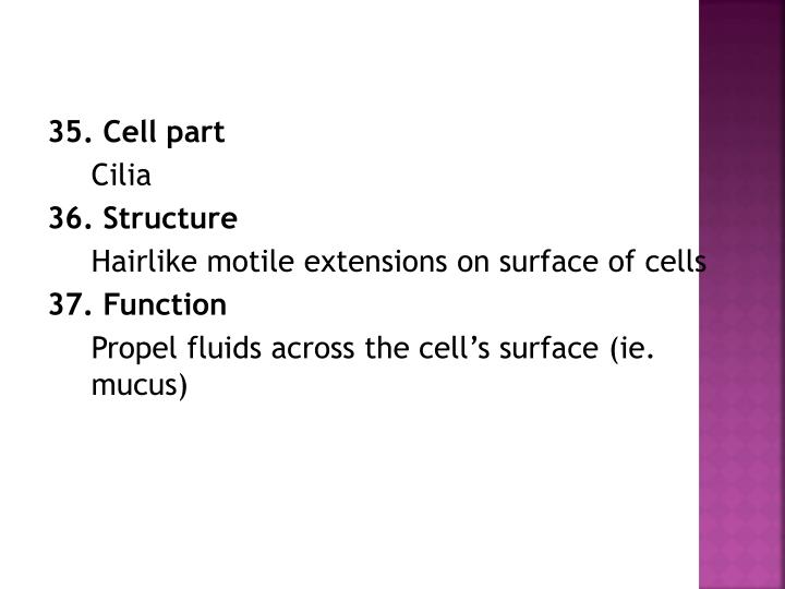 35. Cell part