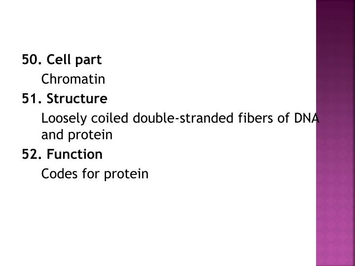 50. Cell part
