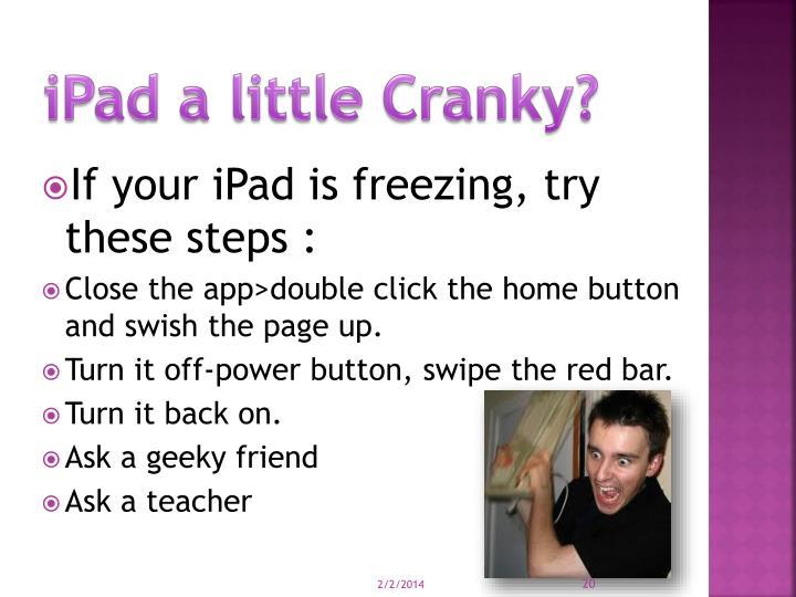 iPad a little