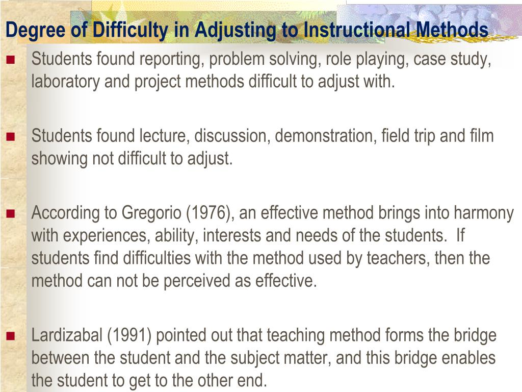 PPT - INSTRUCTIONAL METHODS USED BY TEACHER EDUCATORS OF
