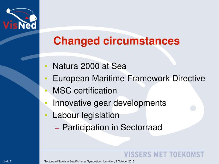 Changed circumstances
