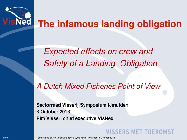 The infamous landing obligation