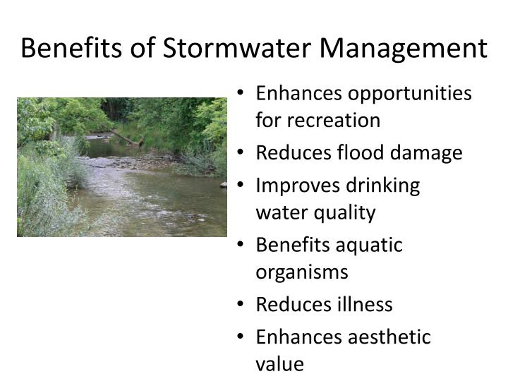 Benefits of Stormwater Management