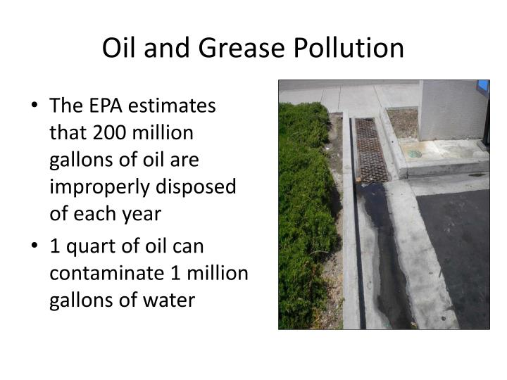 Oil and Grease Pollution