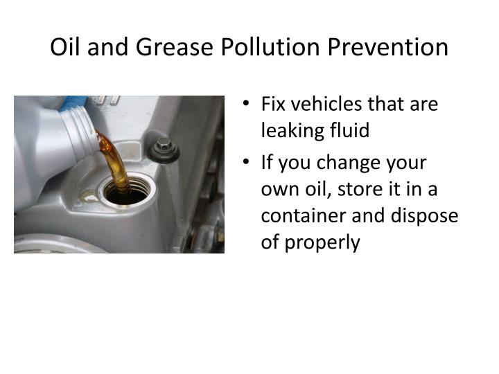 Oil and Grease Pollution Prevention
