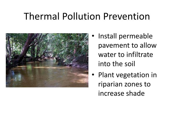 Thermal Pollution Prevention