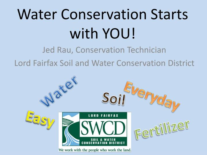 water conservation starts with you n.