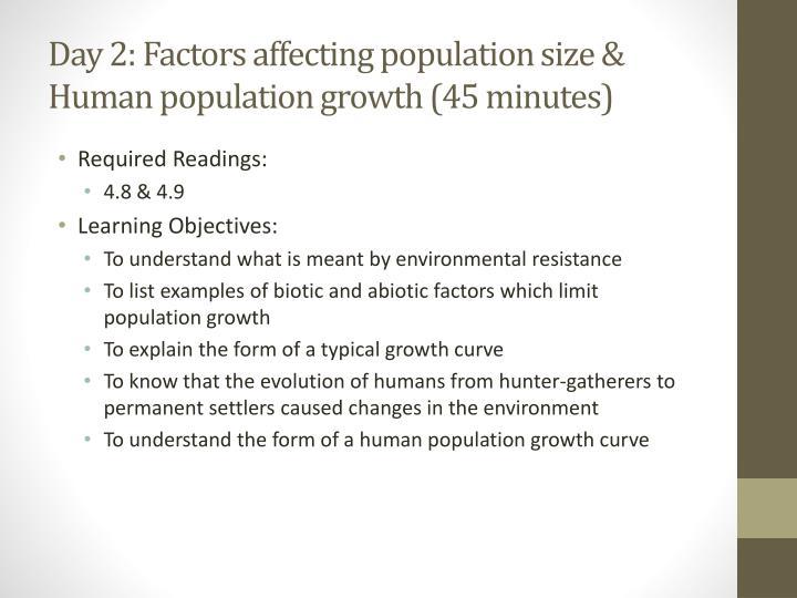 factors affecting human population growth