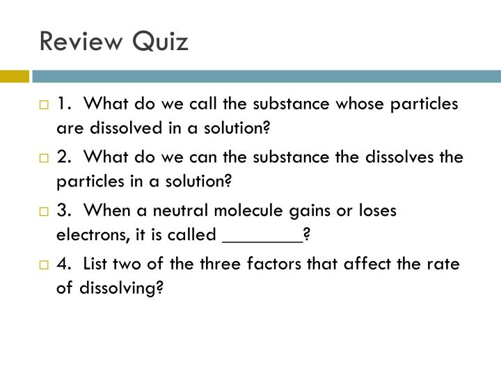 Review Quiz