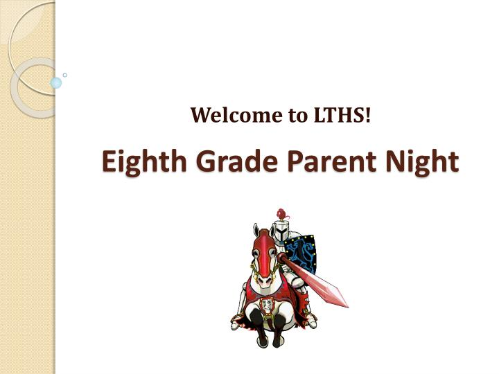 eighth grade parent night
