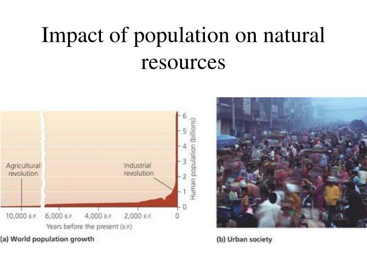 Impact of population on natural resources
