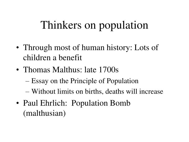 Thinkers on population