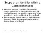 scope of an identifier within a class continued1