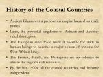 history of the coastal countries