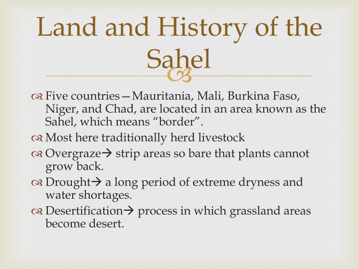 Land and History of the Sahel