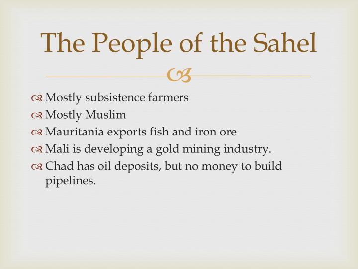 The People of the Sahel