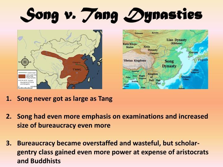Song v. Tang Dynasties