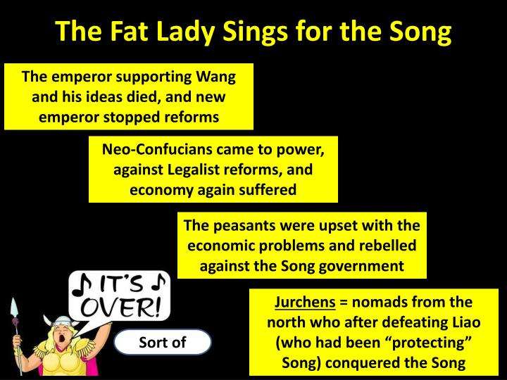 The Fat Lady Sings for the Song