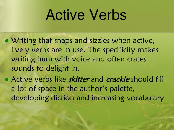 Active Verbs
