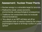 assessment nuclear power plants