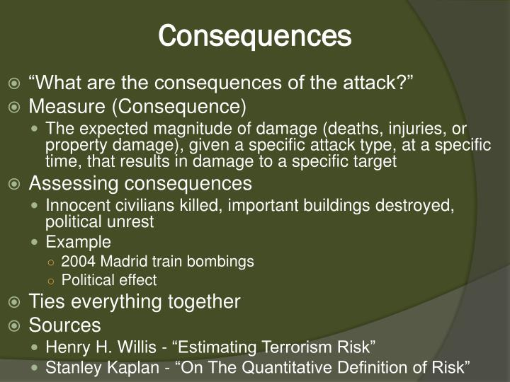 the consequences of terrorism On monday, march 28 2016, the csis global health policy center will host timothy jorgensen, associate professor and director, health physics and radiation.