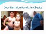 over nutrition results in obesity