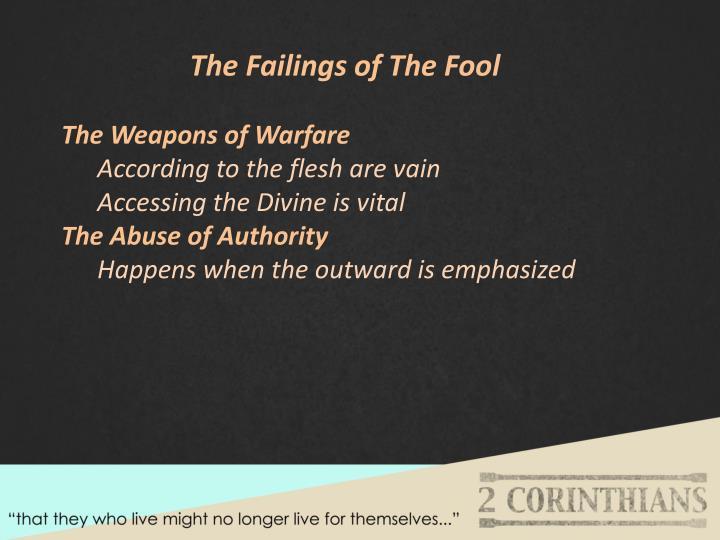 The Failings of The Fool