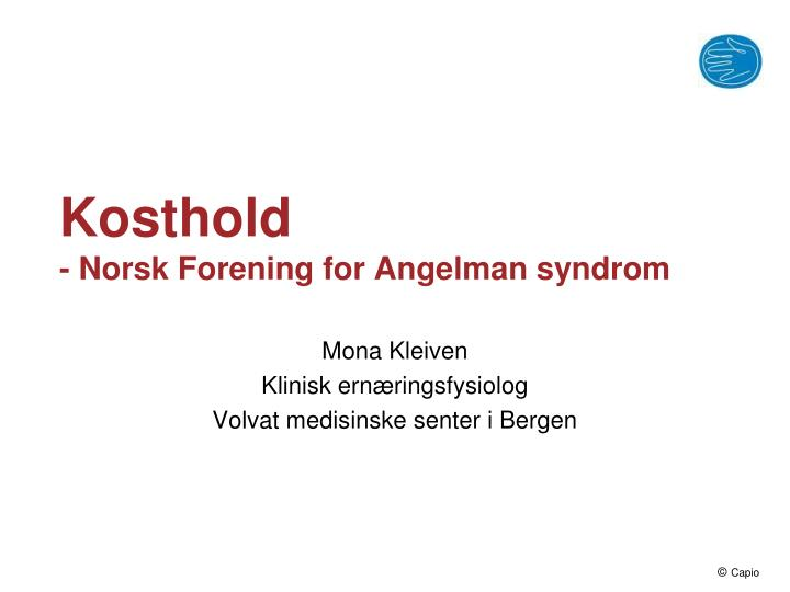 kosthold norsk forening for angelman syndrom n.