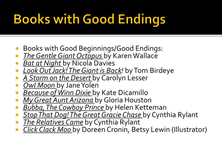 Books with Good Endings