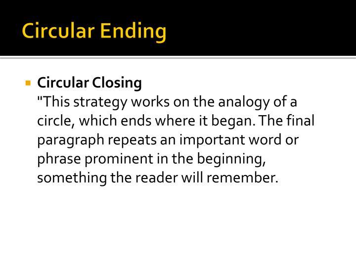 Circular Ending