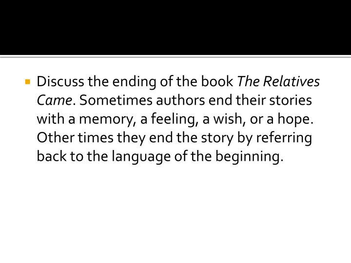 Discuss the ending of the book