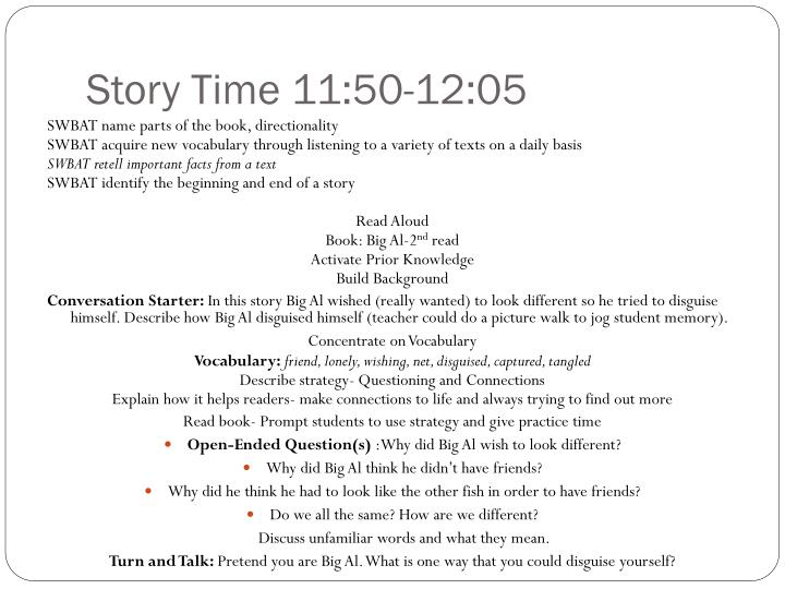 Story Time 11:50-12:05