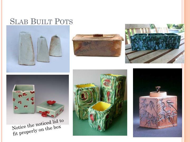Slab built pots1