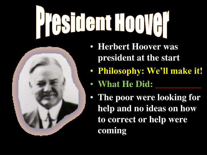 herbert hoover and the great depression the tragic presidency essay
