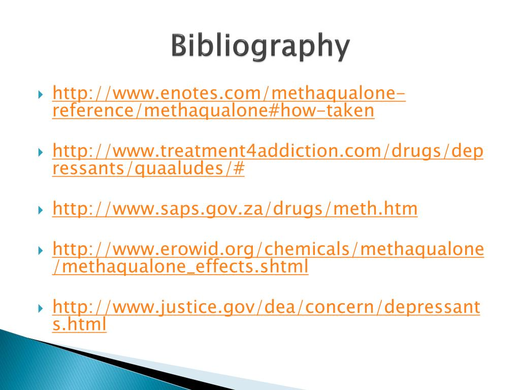 PPT - Methaqualone (meth-a-KWAY-lone) Drug Investigation By: Edward