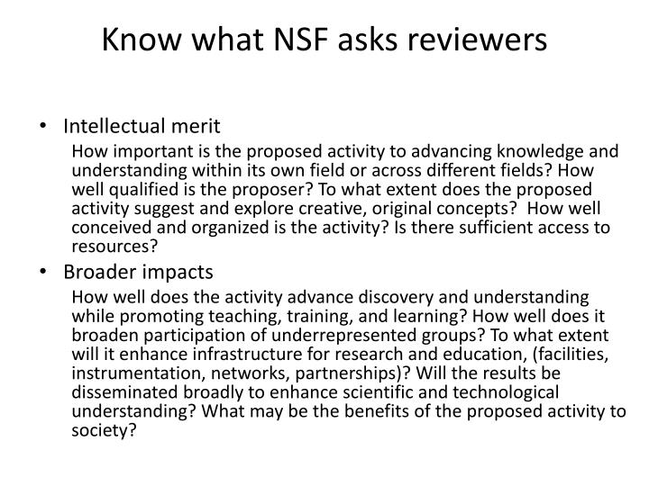 Dissertation improvement nsf