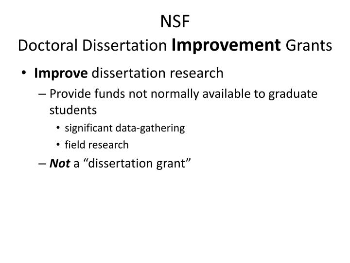 Dissertation improvement grant 2009