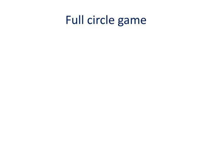 Full circle game