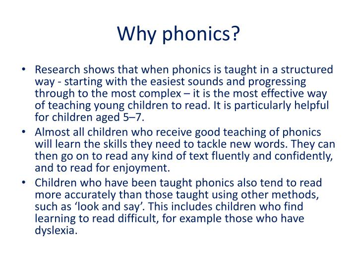 Why phonics?
