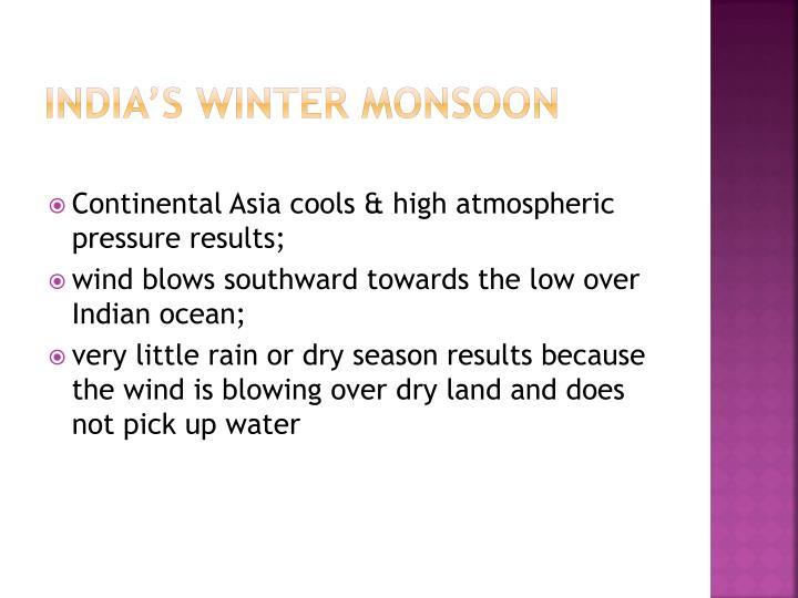 India's Winter Monsoon