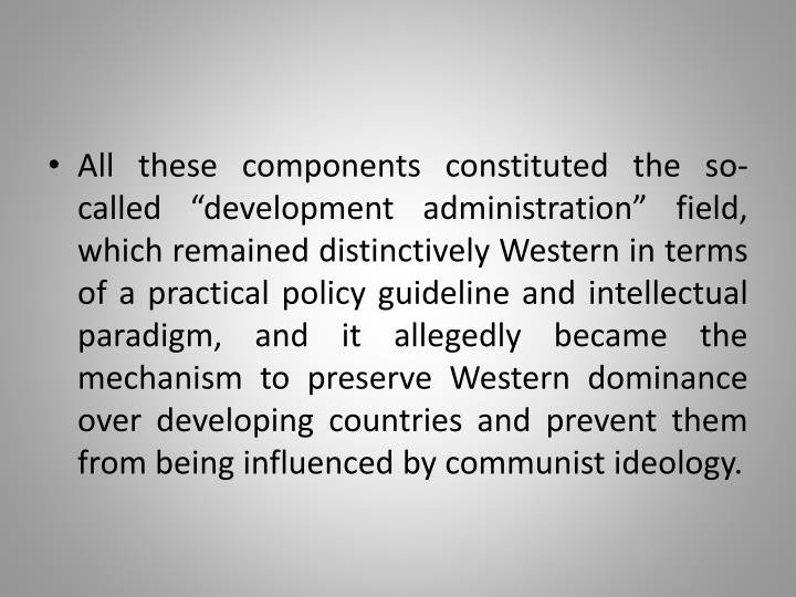 """All these components constituted the so-called """""""