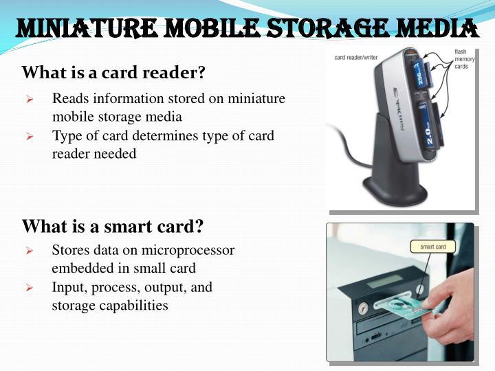 types of miniature mobile storage media