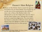 hazara s main religion