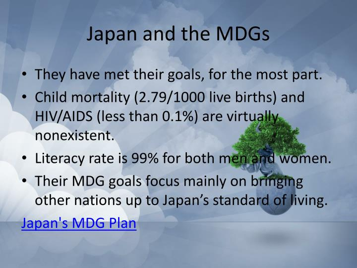 Japan and the MDGs