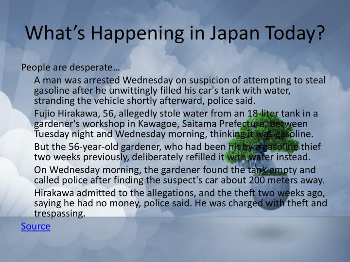 What's Happening in Japan Today?
